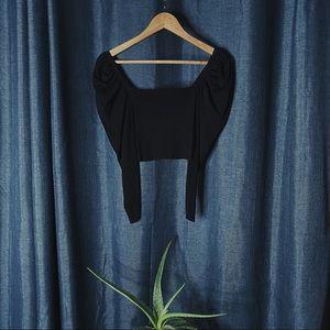 🌻MOVING SALE🌻 Zara Puff Sleeve Crop Top
